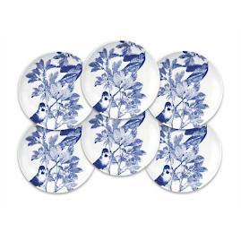 Blue Arbor Canapes, Set of Six