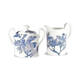 Blue Arbor Creamer & Sugar Set