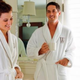 Men's Resort Piped Robe