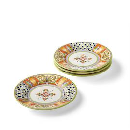 Deruta Handpainted Salad Plates, Set of Four