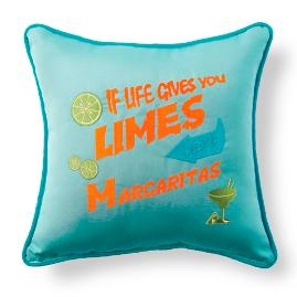 Margaritaville If Life Gives You Limes Throw Pillow