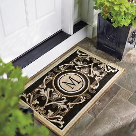 Huntington Monogrammed Entry Mat Frontgate
