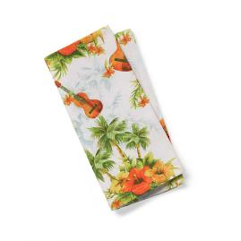 Margaritaville Tiki Guitar Napkins, Set of Four