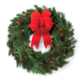 Winter Pine 48-in. Cordless Wreath