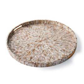 Shell Starburst Round Tray by Porta Forma