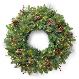 Classic Cordless Designer Series Window Wreath