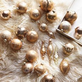 Shades of Gold 60-pc. Ornament Collection