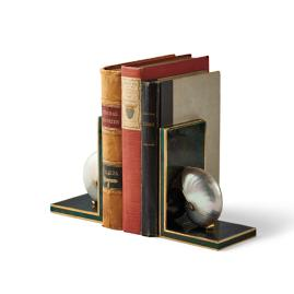 Penshell L-Shape Bookends