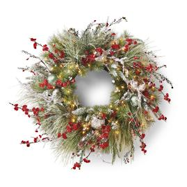 Christmas in Connecticut Cordless Pre-Decorated Wreath