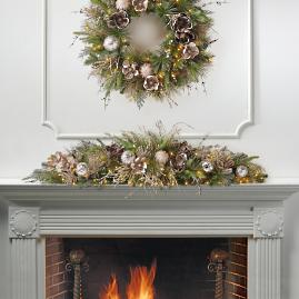 Arabella Pre-Decorated Mantel Swag