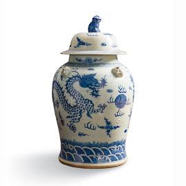 Large Dragon Temple Jar