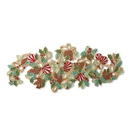 Arcadian Holiday Beaded Table Runner