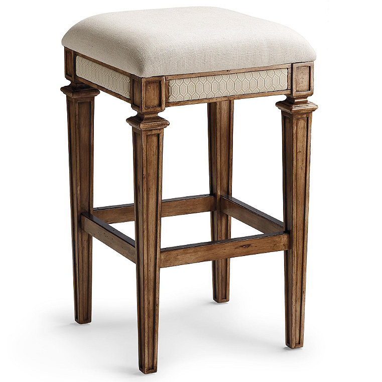 Backless Upholstered Stool Frontgate