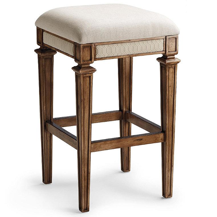 Backless Upholstered Stool - Frontgate