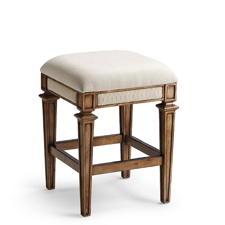 Legs Upholstered Bar Stool Frontgate