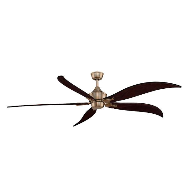 Anastasia ceiling fan with curved wood blades - Curved blade ceiling fan ...