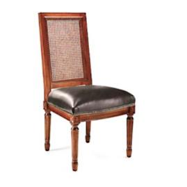 Ludlow Square Back Side Chair in Walnut Finish
