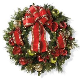 Jolly Holiday Cordless Wreath