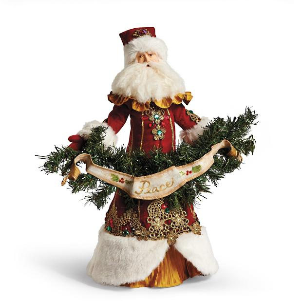 Christmas Tree Toppers Santa: Father Christmas Santa Tree Topper