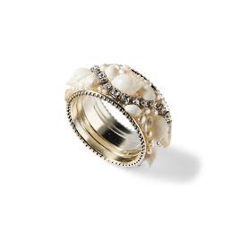 Natural Sea Shell Napkin Rings, Set of Four