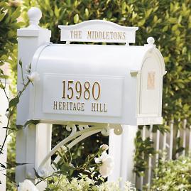 Capitol Monogrammed Mailbox