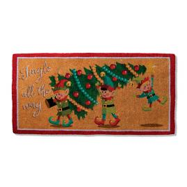 Jingle All the Way Holiday Mat