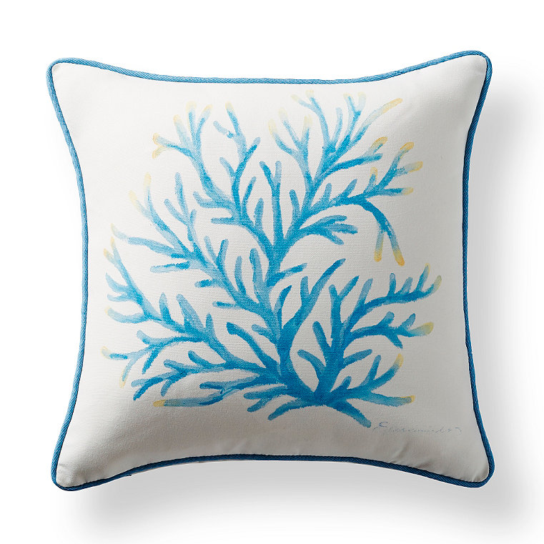 Hand painted indoor pillow frontgate for Hand painted pillows