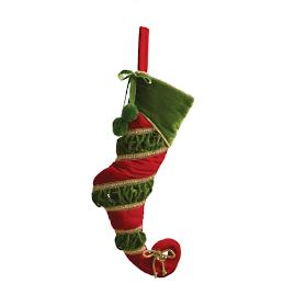 'Tis The Season Green Cuff Quilted Stocking