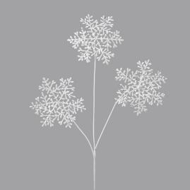 Mica Snowflake Sprays, Set of 12