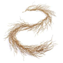 Gold Glitter Willow Garlands, Set of Four