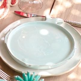 Vietri Lastra Fish Salad Plates, Set of Four