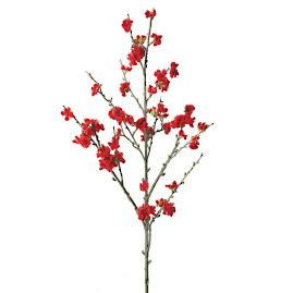 Velvet Cherry Blossom Branches, Set of Six