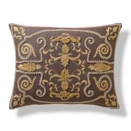 Embroidered European Lumbar Pillow