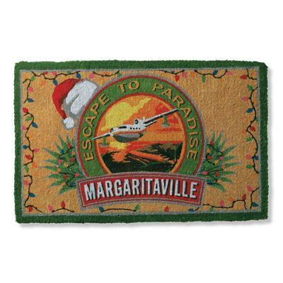 Margaritaville Christmas Logo Mat Frontgate