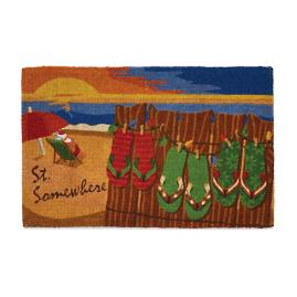 Margaritaville Christmas St. Somewhere Door Mat