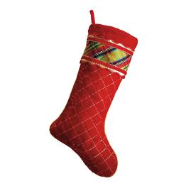 McFarland Plaid Quilted Stocking