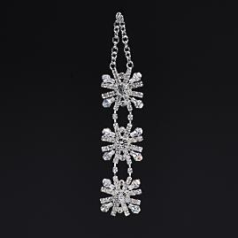 Jeweled Crystal Snowflake Drop Ornaments, Set of Six