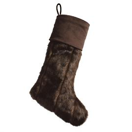 Channeled Mink Luxe Faux Fur Stocking