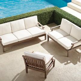 Cassara 3-pc. Sofa Set in Weathered Finish