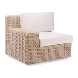 Hyde Park Left-facing Arm Chair with Cushions in