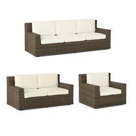 Hyde Park 3-pc. Sofa Set in Ocean Grey