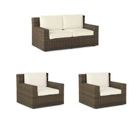 Hyde Park 3-pc. Loveseat Set in Ocean Grey