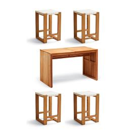 Laurent 5-pc. Backless Counter Height Dining Set by