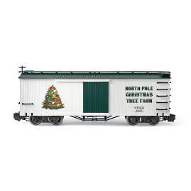 Lighted Christmas Tree Box Car
