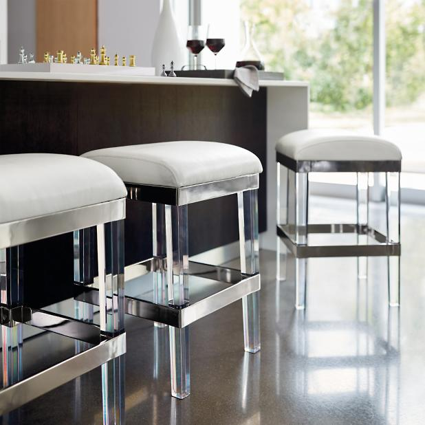 Fulham Acrylic Bar Stool Frontgate