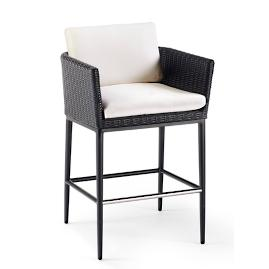 Palazzo Carbon Bar Stool with Cushion by Porta