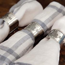 Chateau Napkin Rings, Set of Four