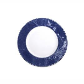 Nautical Chart Rimmed Salad Plate