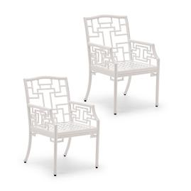 Ibis Isle Set of Two Dining Arm Chairs