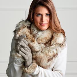 Faux Fur Sweaterknit Gloves